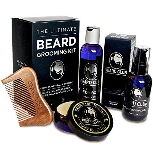 Il Kit Definitivo Per la Cura Della Barba – Il Set Regalo Include Olio da Barba, Balsamo per Barbe, Shampoo per Barbe, Pettine la Barba – Per Gli Uomini Che Amano Prendersi Cura Della Loro Barba