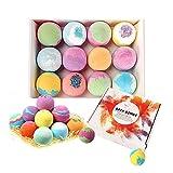 Bombas de baño Supoggy, juego de regalo de 12 piezas con aceites esenciales, bombas de baño ...