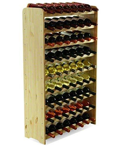 MODO24 Porta Bottiglie Vino Armadio Supporto portabottiglie per 63Bottiglie di Vino Nuovo.