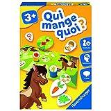 Ravensburger- Jeu Educatif- Qui mange quoi ?- Découverte des animaux- A partir de 3 ans-...