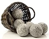 Kitchow Organic Dark Wool Dryer Balls, 8-Pack — Made for Drying Colors/Darks — Natural Ecofriendly Fabric Softener — Reusable Dryer Sheets for Infants