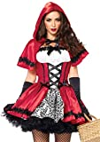 Leg Avenue Women's 2 Piece Gothic Riding Hood, Red/White, Small