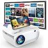 """GROVIEW WiFi Beamer, 6500 Lumen Mini Video Beamer mit Bildschirm, 1080P Unterstützung, eingebaute HiFi Lautsprecher, mit ZOOM Funktion, 240"""" Display, kompatibel mit iPhone/Android/TV Stick/HDMI/USB"""