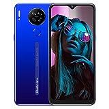 """Téléphone Portable 4G Blackview A80s Smartphone Débloqué (6.21""""HD+ IPS Écran Waterdrop Caméra Arrière 13MP Android 10 64Go+4Go-SD 128Go Batterie 4200mAh) Dual SIM/GPS/Face ID"""