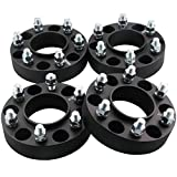 DCVAMOUS 6x135 Hubcentric Wheel Spacers 1.5 Inch Compatible with Ford 6 Lug, 4pc Black Wheel Spacer with 14x2.0 Studs for 2004-2014 F150, 2003-2014 Expedition, 2006-2014 Mark LT, 2003-2014 Navigator