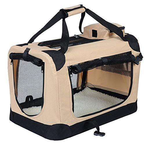 EUGAD Hundebox faltbar Hundetransportbox Auto Transportbox Reisebox Katzenbox 0110HT