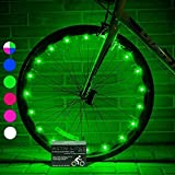 Active Life LED Wheel Lights (1 Tire, Green) Fun Bicycle Spoke Wire & Bike Frame Safety String Lights, Best Wheelchair Accessories & Top Baby Stroller Accessory for Men, Women, Children, Popular Teens