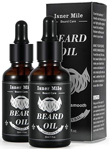 Scelta Migliore 2 Pacchi di Olio Barba Ricino per Uomo Cura Barba, Migliore per La Crescita della Barba, Ammorbidire, Idratare, Rinforzare e Manutenzione - Puro Ingredienti Naturali (Leggero Profumo)