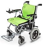 Fauteuil roulant léger, fauteuil roulant électrique ouvert / plié dans 1...