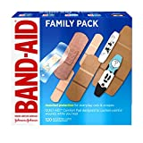 Band-Aid Brand Adhesive Bandage Family Variety Pack in Assorted Sizes including Water Block, Sport Strip,...