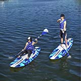 Wavestorm 9ft6 Stand Up Paddleboard 2-Pack // Foam Soft Top SUP for Adults and Kids of all levels of Paddling Kayak