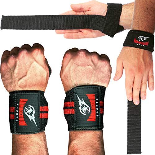 Combo Lifting Straps + Wrist Wraps Correas Levantamiento de Pesas y...