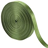Biubee 108 Feet Long 1 Inch Wide Green Tree Tie Strap- Green Staking and Guying Material Garden Tie Plant Tie for Outdoor Use, 1763 Lbs Strength