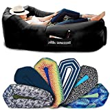 Chillbo SHWAGGINS 2.0 Best Inflatable Lounger Portable Hammock Air Sofa and Camping Chair Ideal Gift Inflatable Couch and Beach Chair Camping Accessories for Picnics and Festivals (Black)