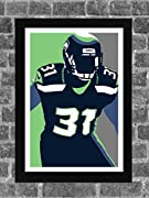 Seattle Seahawks Kam Chancellor Portrait Sports Print Art 11x17 (inches) Poster is ready for framing and printed on high-quality photo paper. All prints are carefully packed for shipping with soft tissue wrapping and durable tubing. Please note the b...
