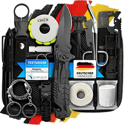 Jungle Monkey Survival Kit Premium Set mit Messer &...