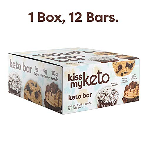 Kiss My Keto Bars - Low Carb (3g Net), Low Sugar Keto Snack Bars | Chocolate Variety Pack, 12 Pack | Rich in Ketogenic Fats & Protein 6