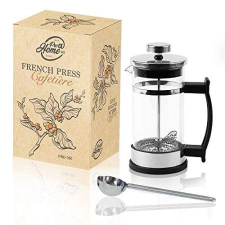 Pro@Home43 French Press Kaffeepresse aus Glas