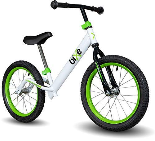 """Green Pro Balance Bike for Big Kids and Kids with Special Needs - 16"""" No Pedal Glide Training Bicycle for Children Ages 5,6,7,8. Peddle-Less Bike Made for Fun Learning. …"""