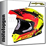 Scorpion 46-266-221 Casque moto cross VX-16 Air Arhus Neon jaune fluo rouge...