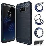 【スマホリングスタンド付】【GTO】 Samsung Galaxy s8 plus ケース カバー Qi充電対応 ワイヤ……