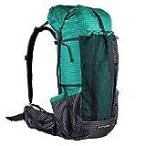 GFASIIWS Pro Mochila de viaje, camping, senderismo, mochila al aire libre, ultraligera, sin marco, Qi Dian Pro Green