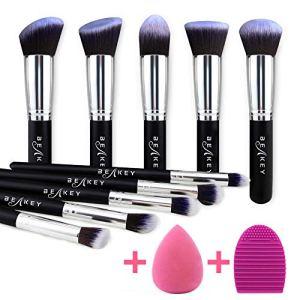 BEAKEY Makeup Brush Set, Premium Synthetic Foundation Face Powder Blush Eyeshadow Kabuki Brush Kit, Makeup Brushes with… 6