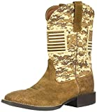 Ariat Men's Sport Patriot Western Boot, Distressed Brown, 10 D US