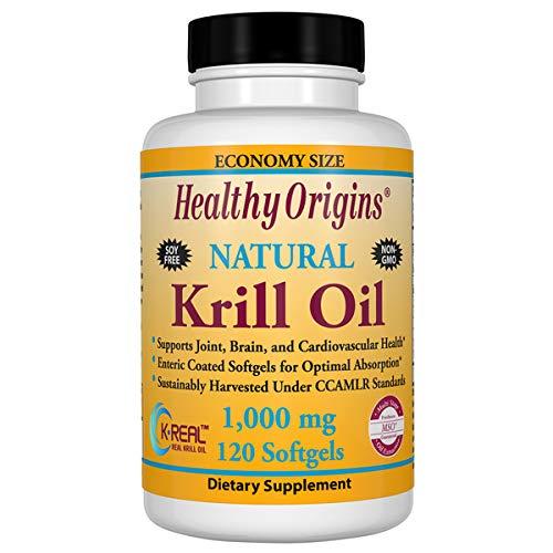 Krill Oil 1000mg - Antarctic Krill 120Gels - Healthy Origins