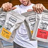 Ember Biltong 1KG Großbeutel – Beef Jerky Chili – Proteinreicher Snack – Chilli (2x500g) - 6