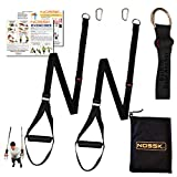 NOSSK Twin PRO Bodyweight Fitness Strap Trainer (Black)
