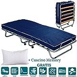 EvergreenWeb - Confortable lit d'appoint 80x190 avec Matelas Mousse H 10 cm avec...