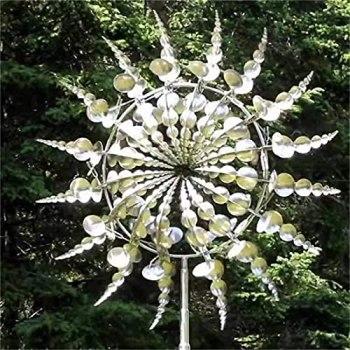 SHONTON Moulin à Vent en métal Unique et Magique,Attrape-tourneaux à Vent Solaire,toupies à Vent de pelouse pour la décoration de Jardin de Patio de Jardin de capteur de Vent extérieur(A