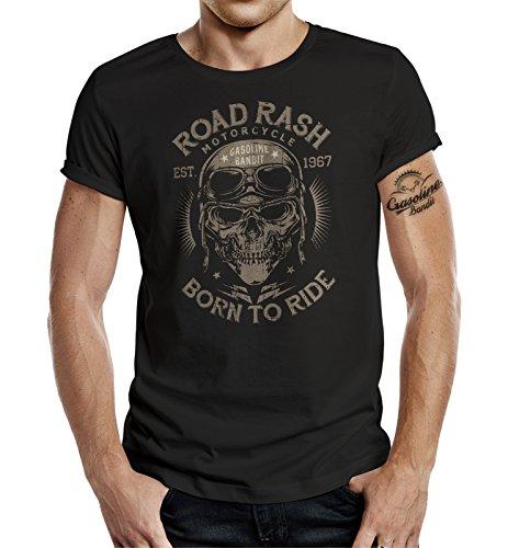 GASOLINE BANDIT Original Biker Racer Camiseta: Road Rash-L