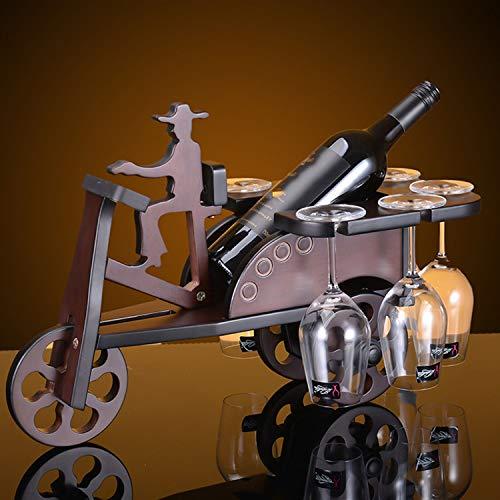 YXXHM- Mini Auto portabottiglie in Legno massello cantinetta portabottiglie in Legno Regali creativi...