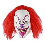 MICG Halloween Scary Killer Mask Adult Horror Clown Joker Demon Cosplay Costume Masks (Red Voldemort)