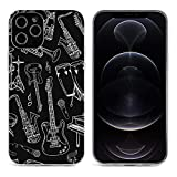 Musical Instrument Guitar Piano Bass Black iPhone 12&iPhone 12 Pro&iPhone 12Pro Max&i……