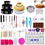 Cake Decorating Supplies 2021 Upgrade 366 PCS Baking Set with Springform Cake Pans Set,Cake Rotating Turntable,Cake Decorating Kits, Muffin Cup Mold, Cake Baking Supplies for Beginners and Cake Lovers
