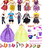 Hey~Yo Vêtements de Poupée, 11' Accessoires de Poupée 41 Pièces-Inclus 2 Robe de Soirée Nuptiale + 10 Tenues Décontractées +10 Cintre + 10 Chaussures+9 Nettoyage Cadeau de Noël