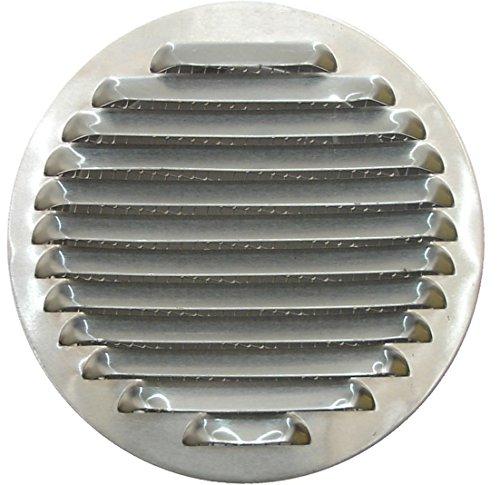 Griglia di Ventilazione Circolare in Alluminio 80 mm, Griglia di Ventilazione Rotonda in Alluminio con Rete 8 cm, Copertura di Ventilazione per Cappa da Cucina, Griglia di Scarico con Mesh.