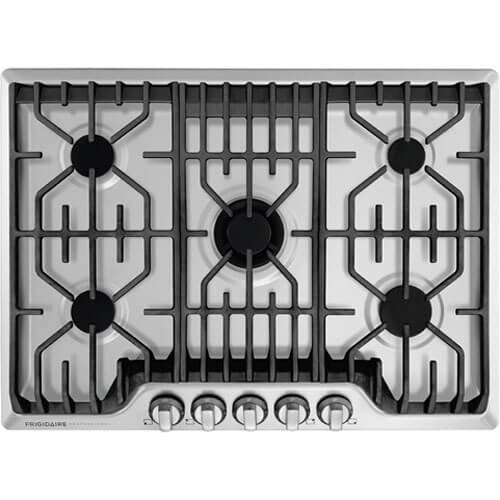 Frigidaire Professional 30 Inch Gas, Stainless Steel 5-Burner with...