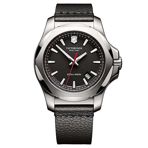 Victorinox Swiss Army Unisex Analog Quarz Uhr mit Leder Armband 241737