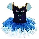 Lito Angels Disfraz Tutu de Frozen Princesa Anna para Niñas, Bailarina de...