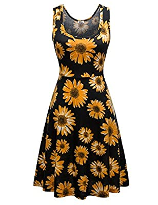 A good amount of stretch to it for being 95%Cotton/5%Spandex(95%Polyester/5%Spandex for the floral ones) Knee length of the dress make it suitable for all everyday and formal occasions Simple design make it fashion forever. Standard US Size.An adorab...