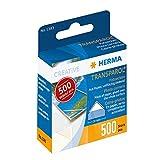 HERMA 1383 Transparol Fotoecken selbstklebend (20 mm, transparent) in Spendepackung, Klebstoff lösemittel- und säurefrei, 500 Stück