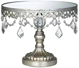 Antique Silver Beaded Small Cake...
