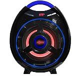 AXESS SPBT1051 Portable Bluetooth 2.1 Hi-Fi Media Speaker with Built-In Sub & FM Radio, USB, 6 Aux, 6.5mm, Red