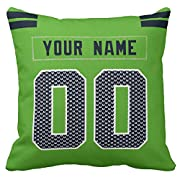 Custom Football personalized Throw Pillow Covers is easy! Add a note to your order Player name and Number, We'll handle the rest. The processing time is about 5-7 days to prepare your order. print personalized select any name & any number Material:10...