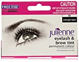 Julienne Eyelash and Eyebrow Permanent Midnight Black 01 Colour Tint 15ml