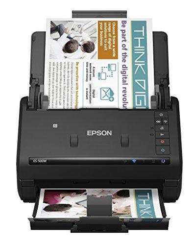 Scanner WorkForce, Epson ES-500W, Preto